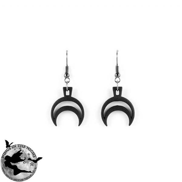 The Rogue + The Wolf RHEA Gothic Black Earrings